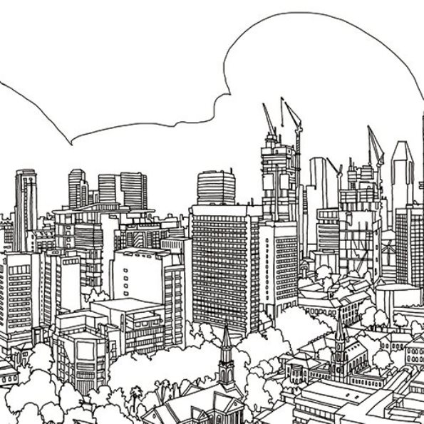 29 cities coloring pages