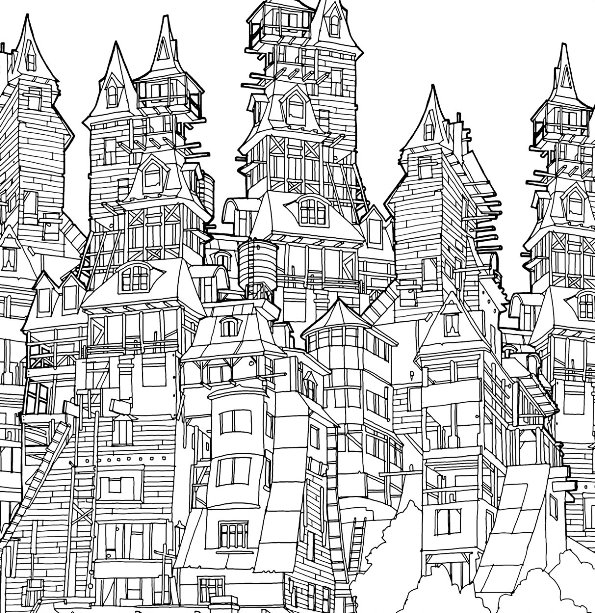 kids n 29 coloring pages of cities. Black Bedroom Furniture Sets. Home Design Ideas