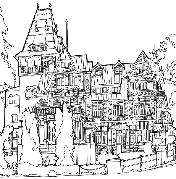 Kids N Fun Com 29 Coloring Pages Of Cities
