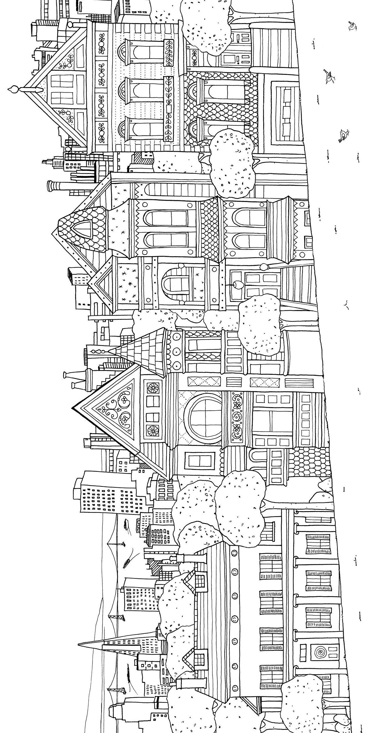 Ausmalbilder Fidget Spinner: 29 Coloring Pages Of Cities