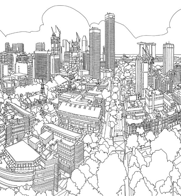 Kidsnfun Coloring page Cities singapore