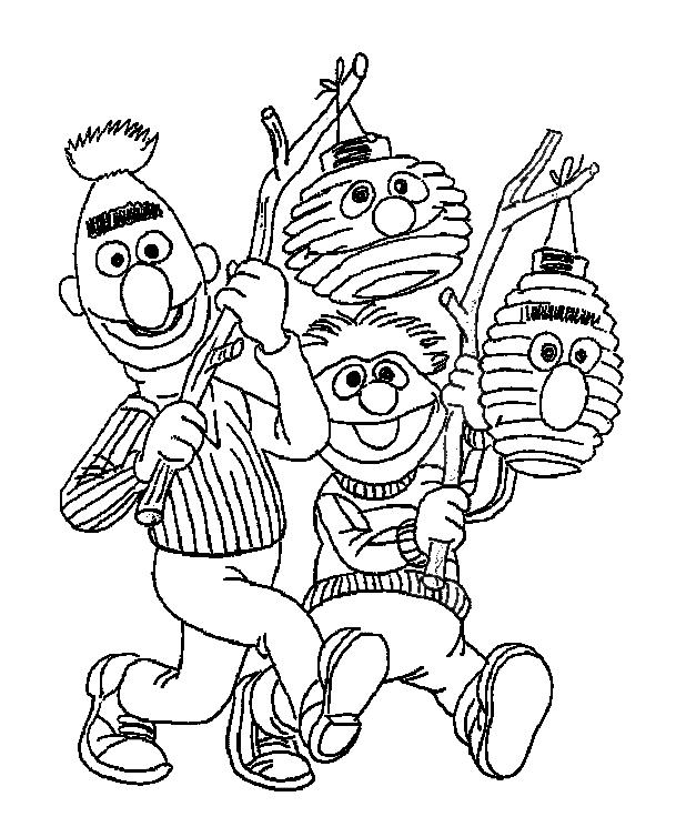 Kids-n-fun.co.uk | Coloring page St. Maarten bert-ernie