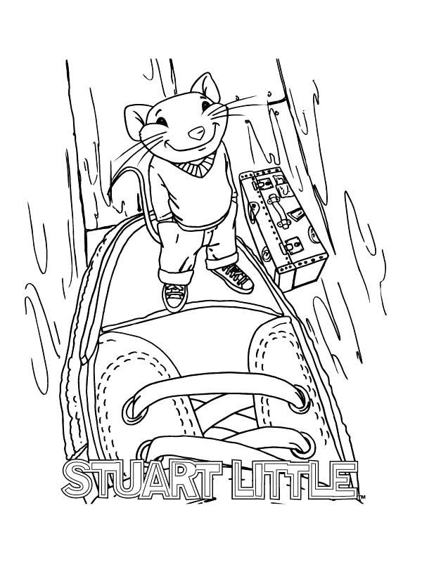 Kidsnfun 16 coloring pages of Stuart Little
