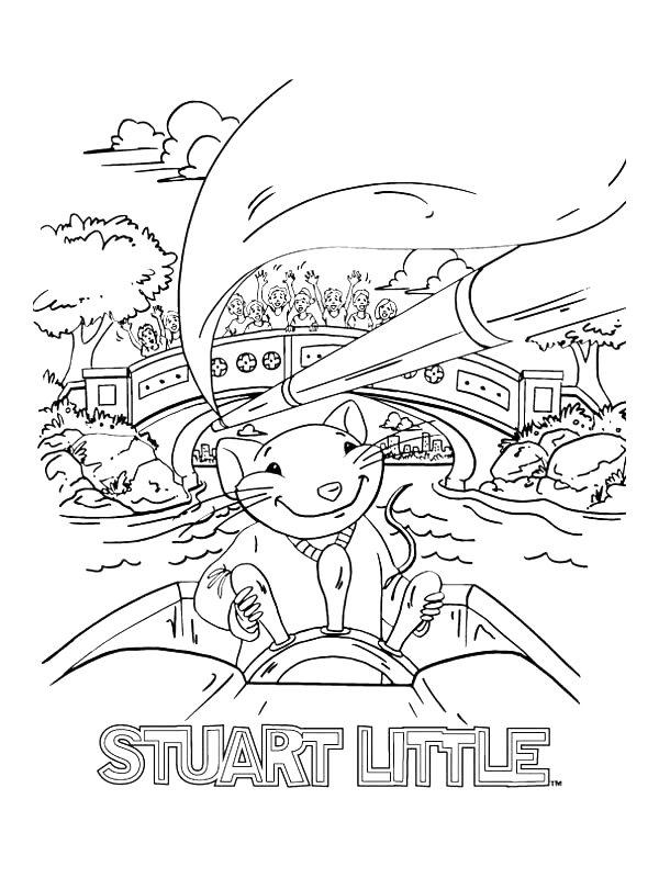 Kids N Fun Com 16 Coloring Pages Of Stuart Little