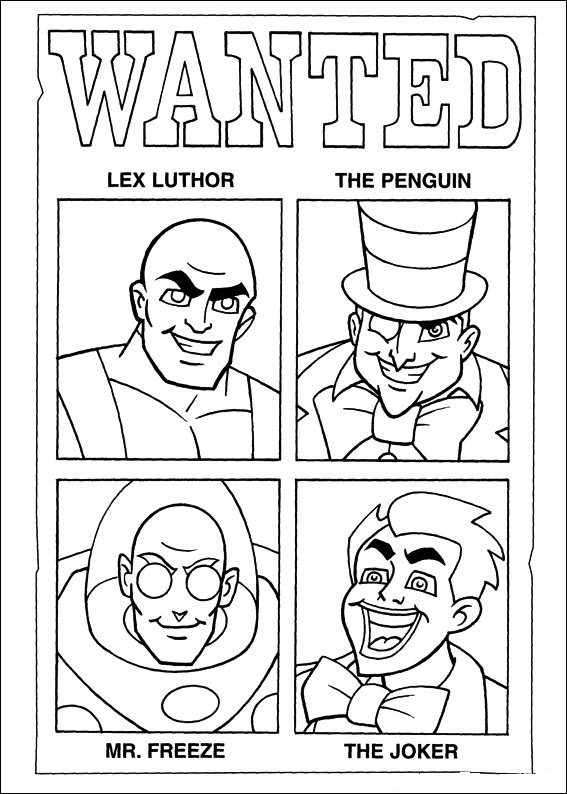 super friends coloring pages - kids n coloring page superfriends superfriends
