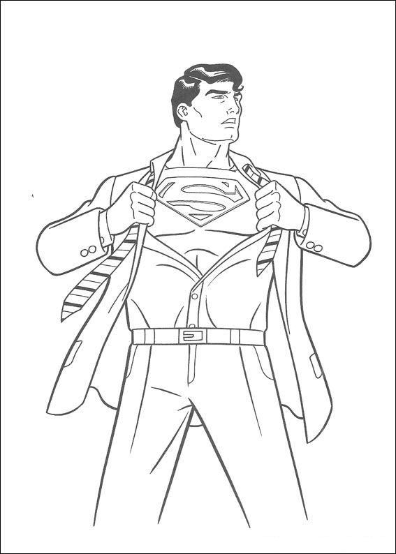 superman - Superman Coloring Pages Kids