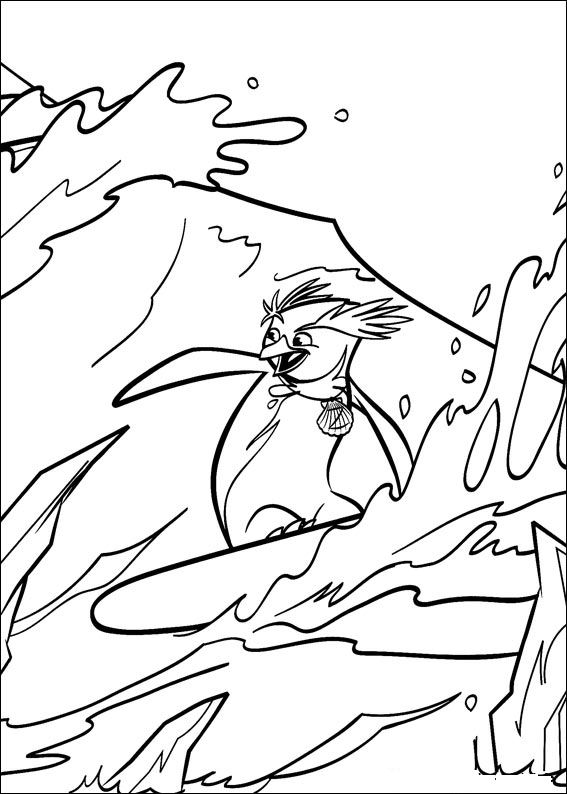 surfing coloring pages for kids - photo#23