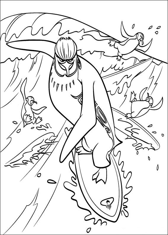 Kids n 37 coloring pages of summer - Coloriage surfeur ...