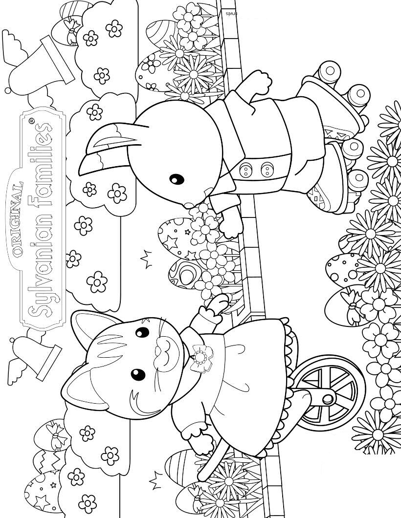 Kidsnfuncom 17 coloring pages of Calico Critters