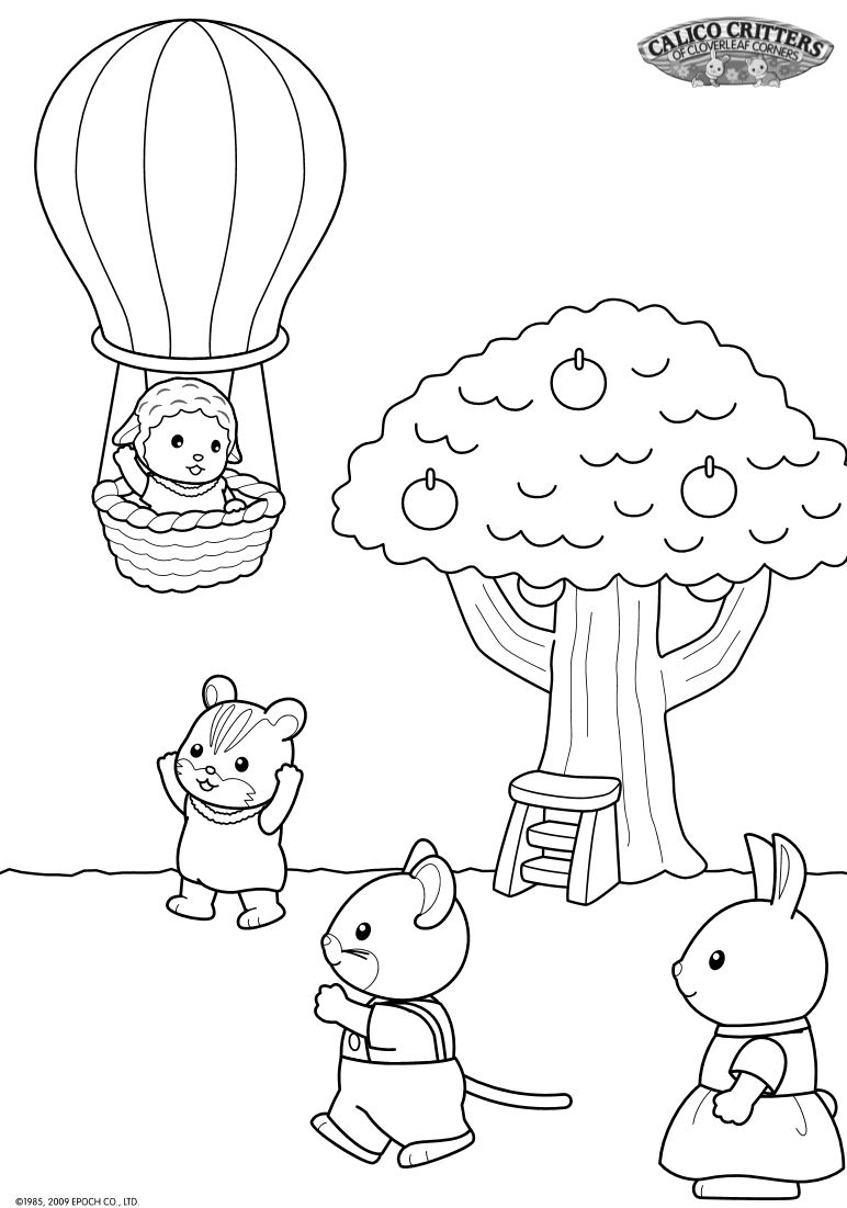 Calico Critters 17 Coloring Pages