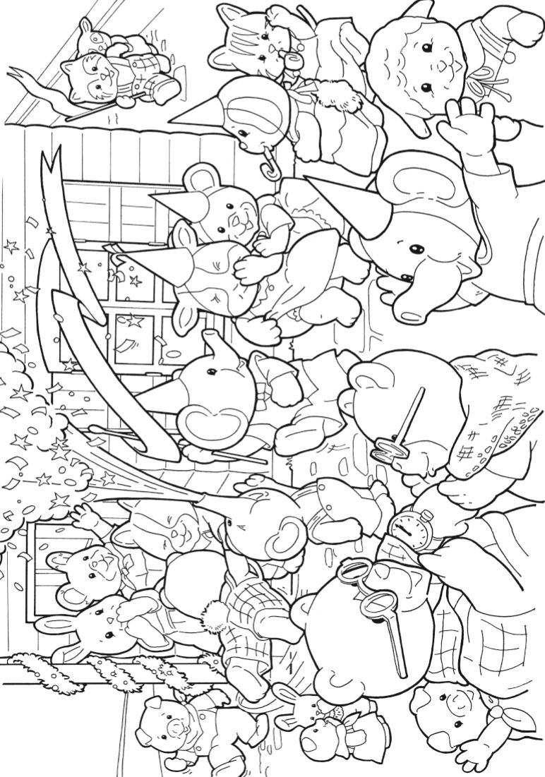 Kids-n-fun.com | 17 coloring pages of Calico Critters