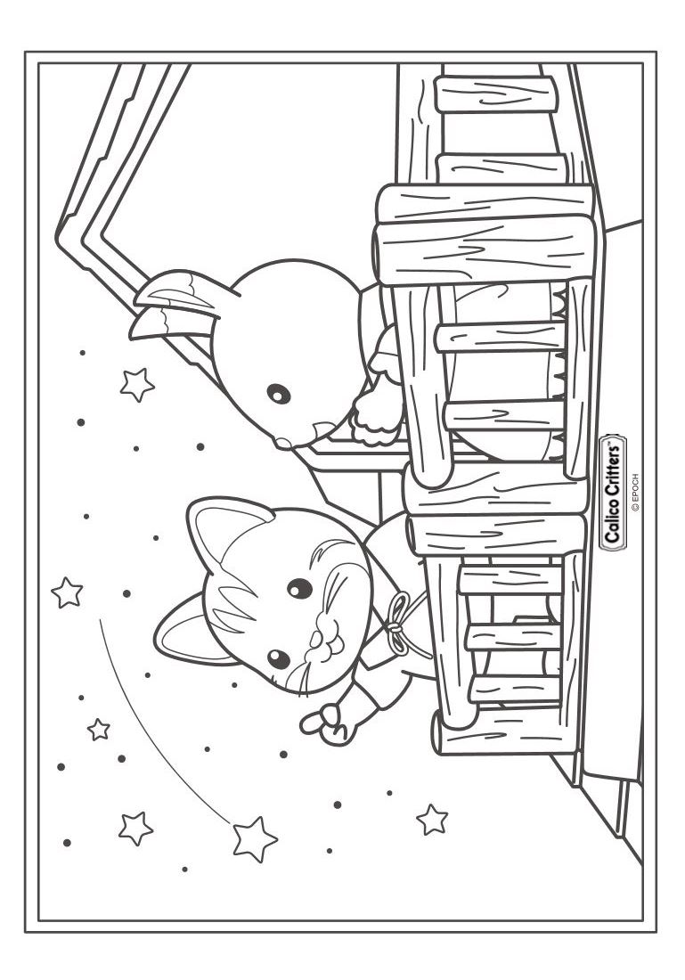 Kidsnfuncouk Coloring page Calico Critters Sylvanian Families