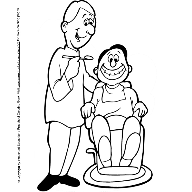 9 dentist coloring pages