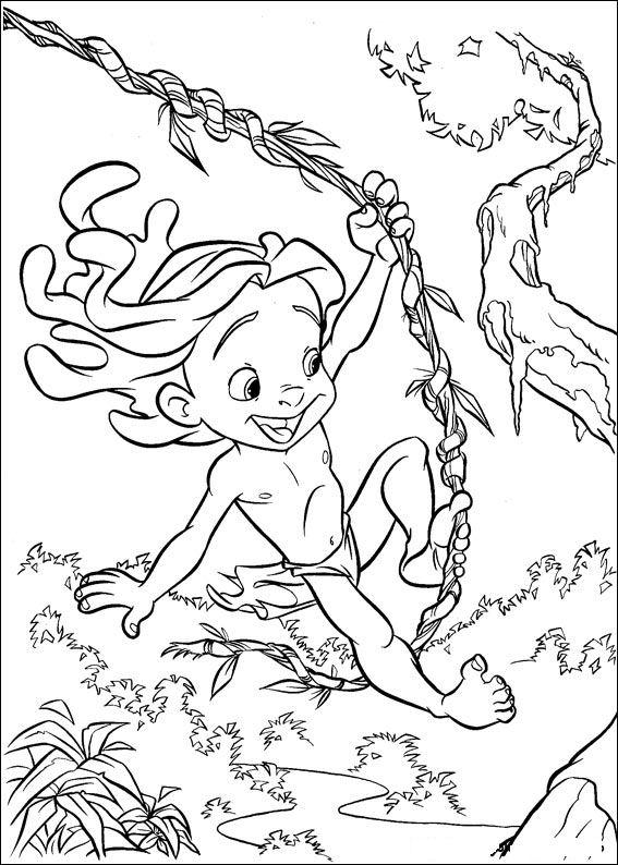 Kids N Fun Com 65 Coloring Pages Of Tarzan