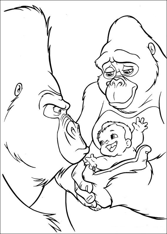 images tarzan coloring pages - photo#35