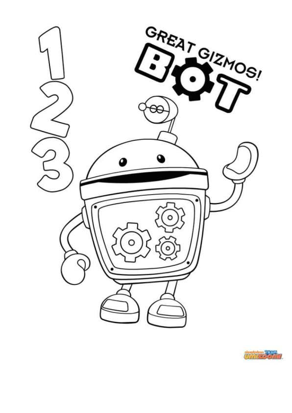 bot - Umizoomi Coloring Pages Printable