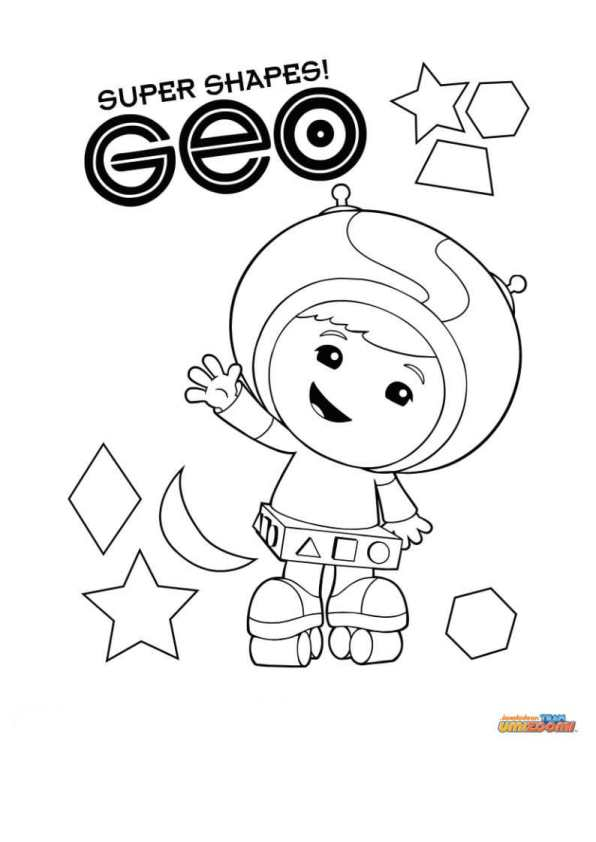 9 team umizoomi coloring pages - Umizoomi Coloring Pages Printable