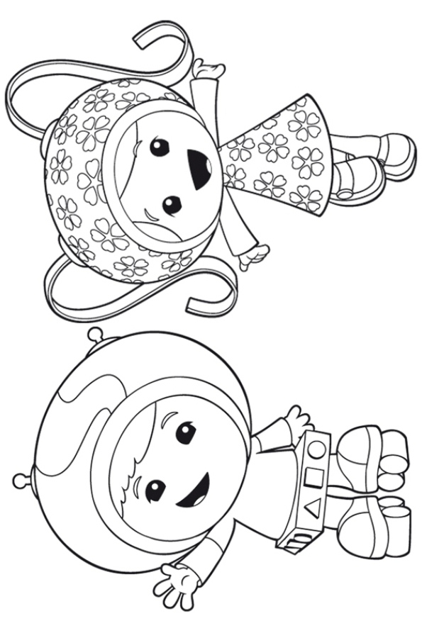 kids-n-fun.co.uk | 9 coloring pages of team umizoomi - Team Umizoomi Bot Coloring Pages