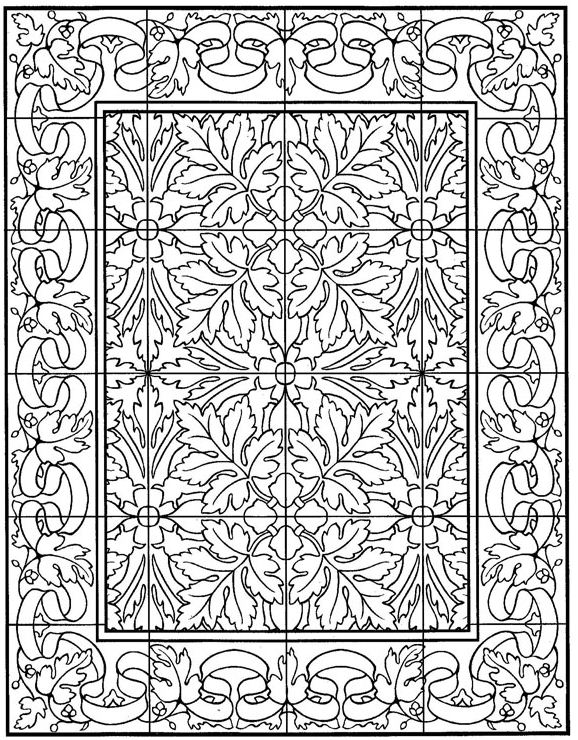 Kids N Fun Com 30 Coloring Pages Of Tiles