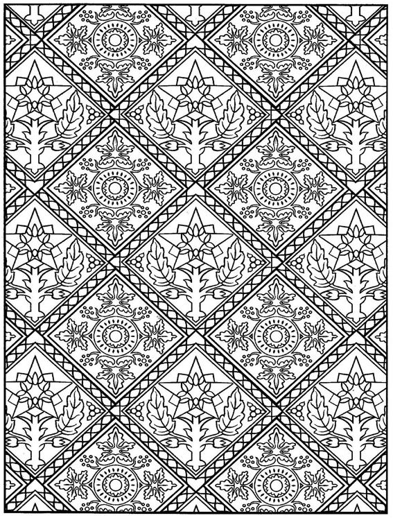 Kleurplaten Volwassenen Bloemen Kids N Fun Com 30 Coloring Pages Of Tiles