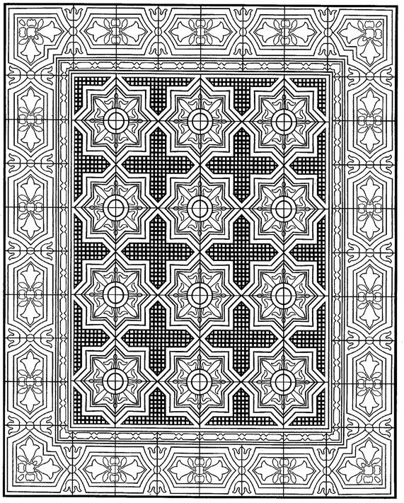 Kidsnfun 30 coloring pages of Tiles