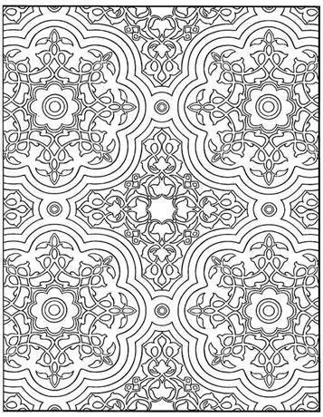 Mosaic Pictures To Color - Coloring Home | 460x357