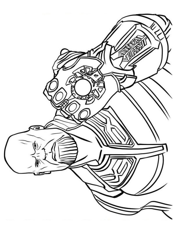 Kids-n-fun.com | Coloring page Thanos Thanos