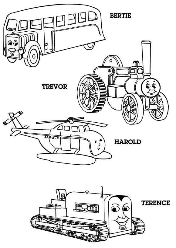 56 thomas the train coloring pages