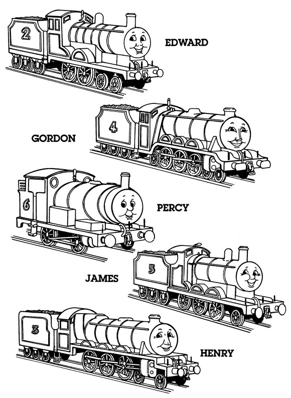 Kidsnfuncom  56 coloring pages of Thomas the Train