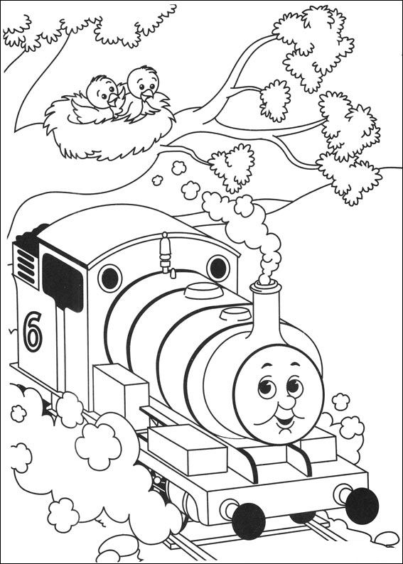 Kids-n-fun.com | 56 coloring pages of Thomas the Train