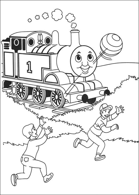 kids n fun com 56 coloring pages of thomas the train