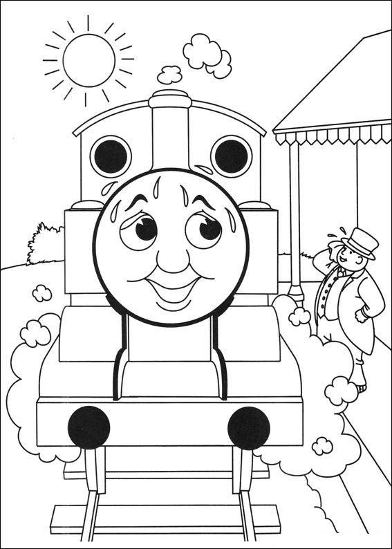 kids n fun 56 coloring pages of thomas the train - Thomas Friends Coloring Pages