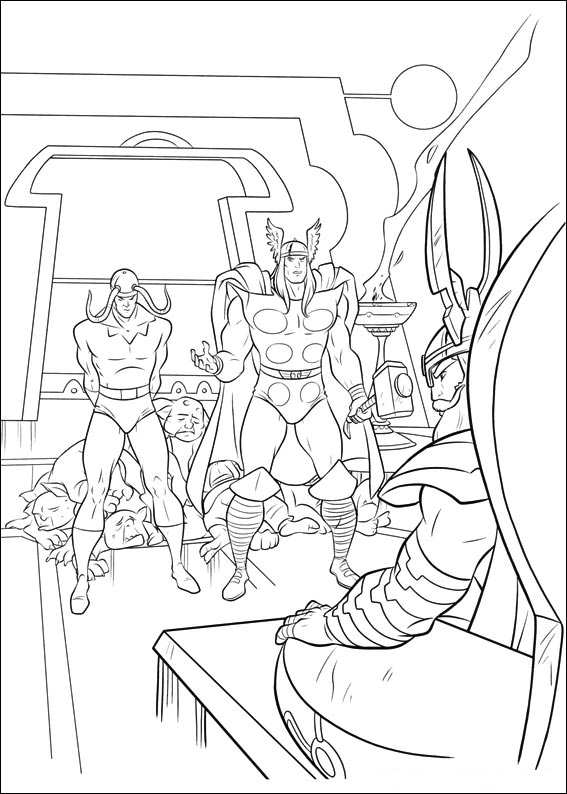 kidsnfun  34 coloring pages of thor