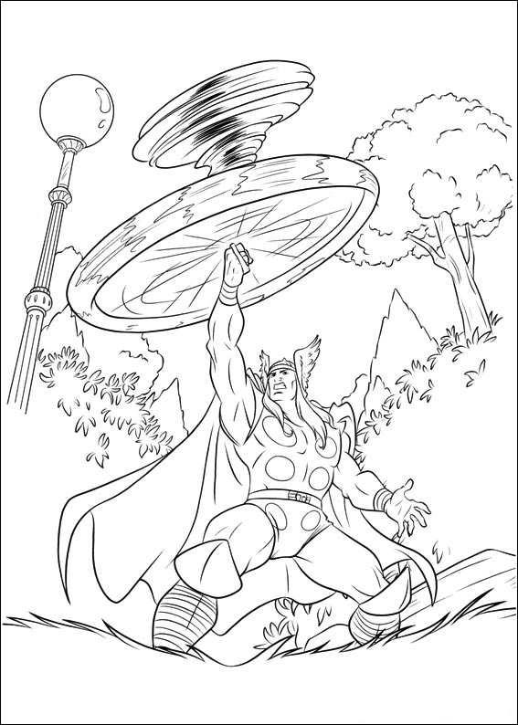 Kids-n-fun.com | Coloring page Thor Thor