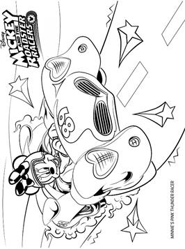 Kids N Fun Com 13 Coloring Pages Of Mickey Mouse And De Roadster Racers