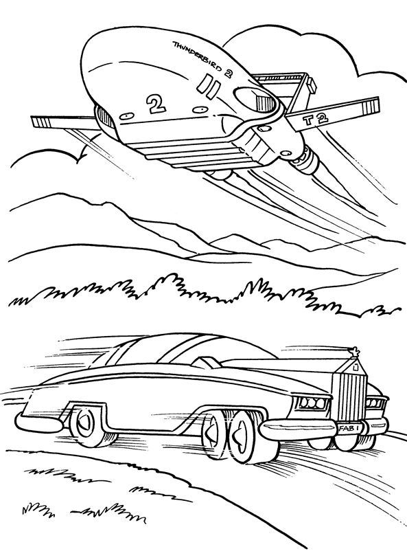 thunderbirds coloring pages - kids n 16 coloring pages of thunderbids are go