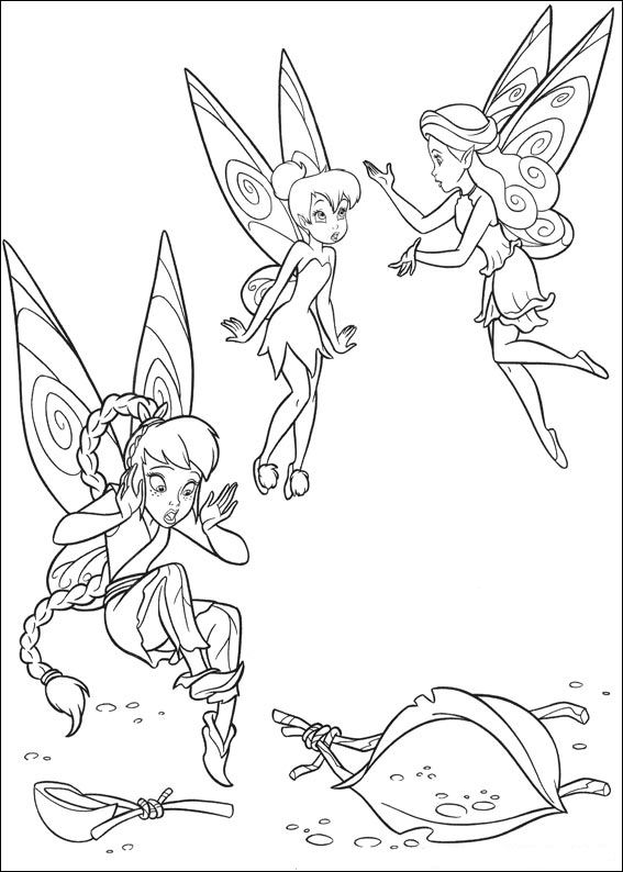 Kids N Fun Com 58 Coloring Pages Of Tinkerbell