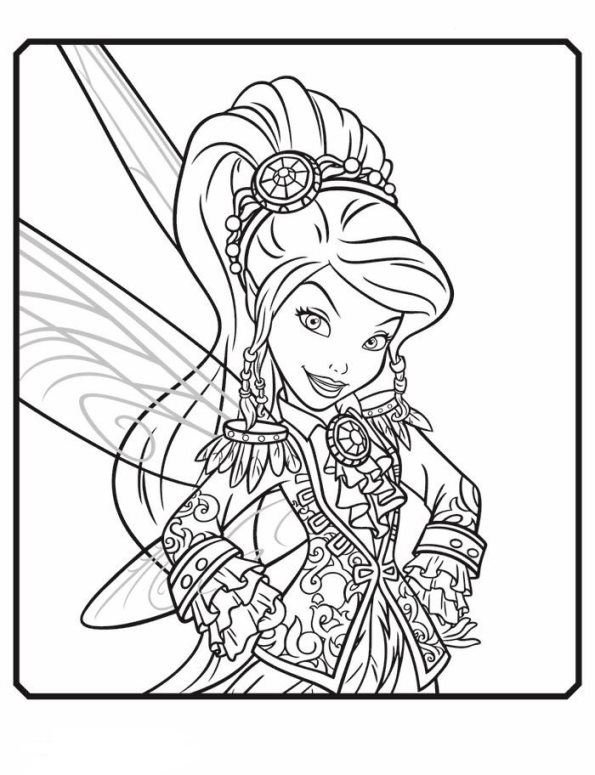 Kids N Fun Com 14 Coloring Pages Of Tinkelbell Pirate Fairy