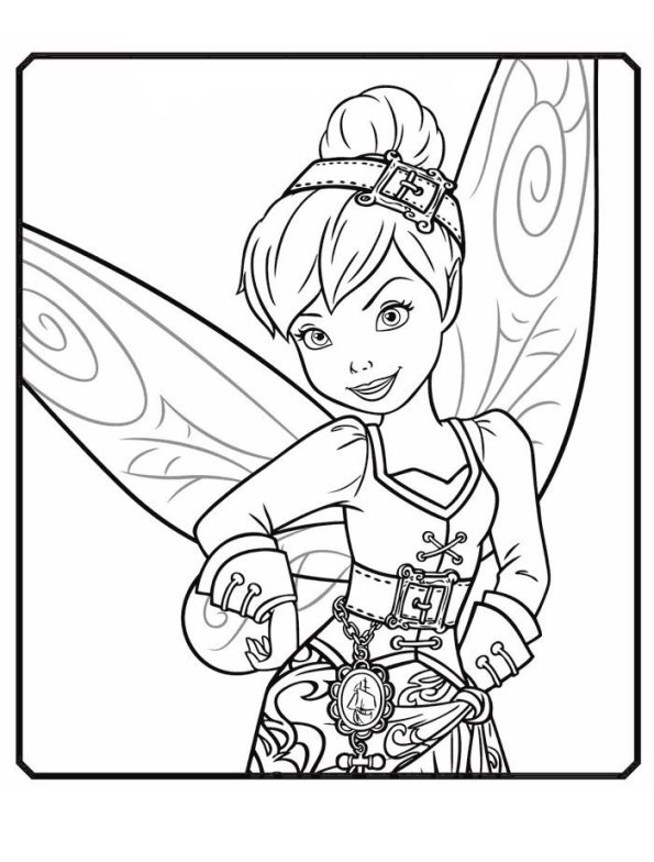 Kids-n-fun.com | Coloring page Tinkelbell Pirate Fairy ...