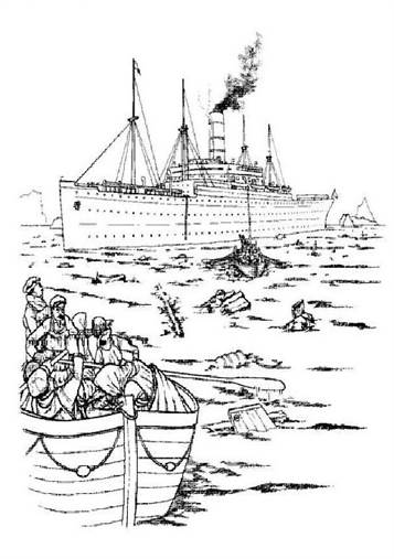 n 30 coloring pages of titanic