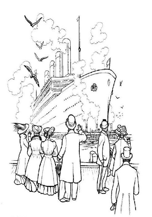 30 titanic coloring pages