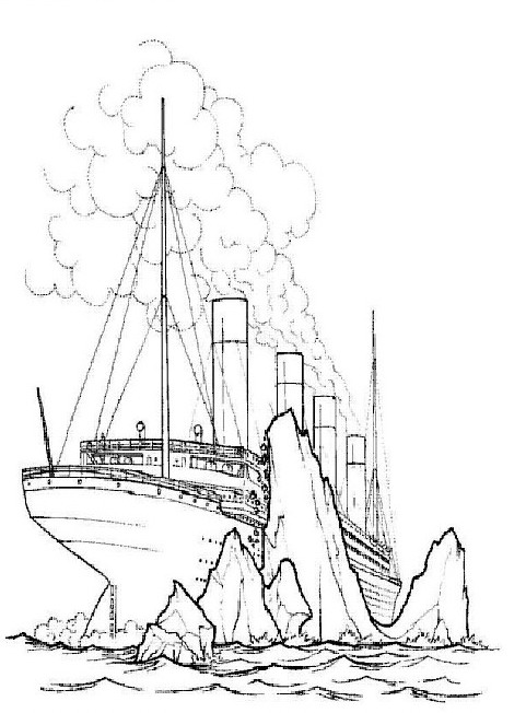 Kids-n-fun.com | 30 coloring pages of Titanic