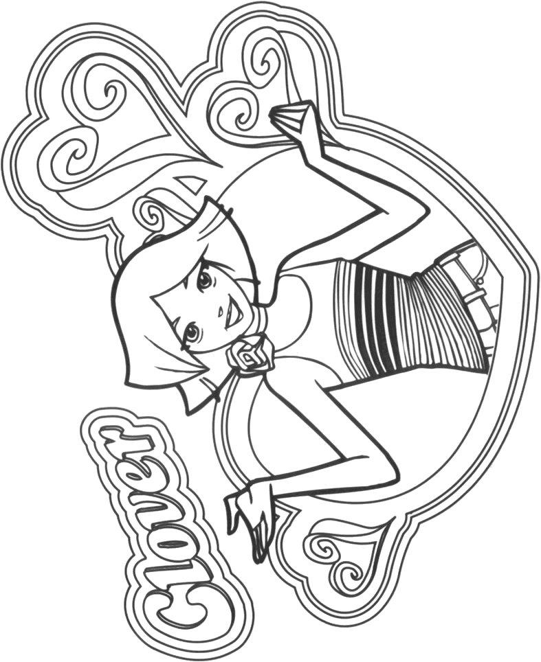 Kids n totally spies for Totally spies coloring pages