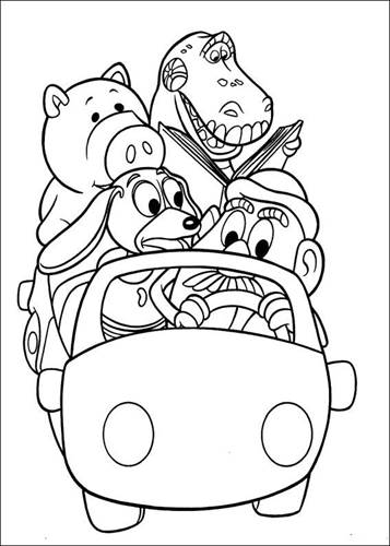 Kidsnfun 97 coloring pages of Toy Story