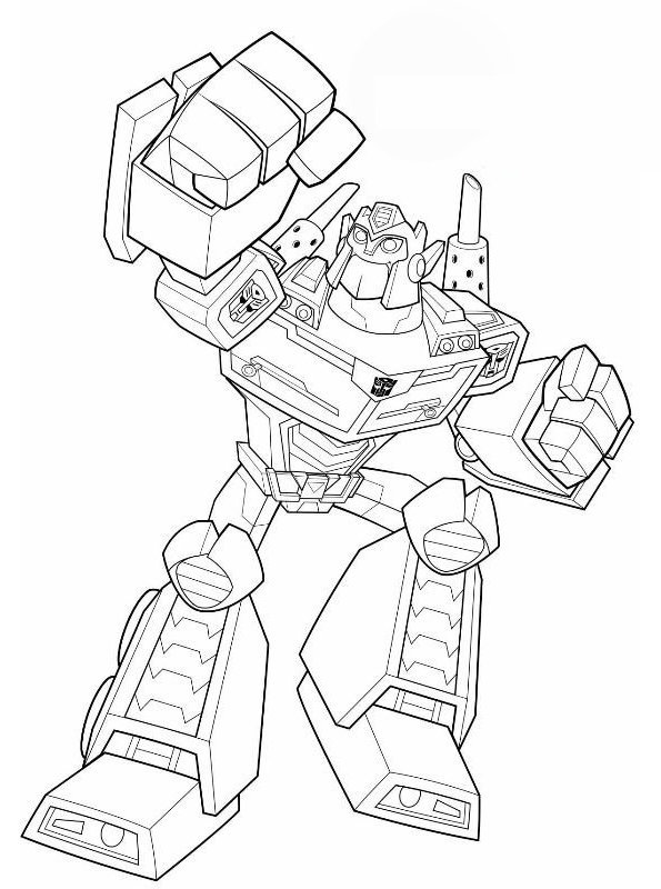 Optimus Prime Lego Coloring Pages 2 By James - Easy Bumblebee ... | 800x595