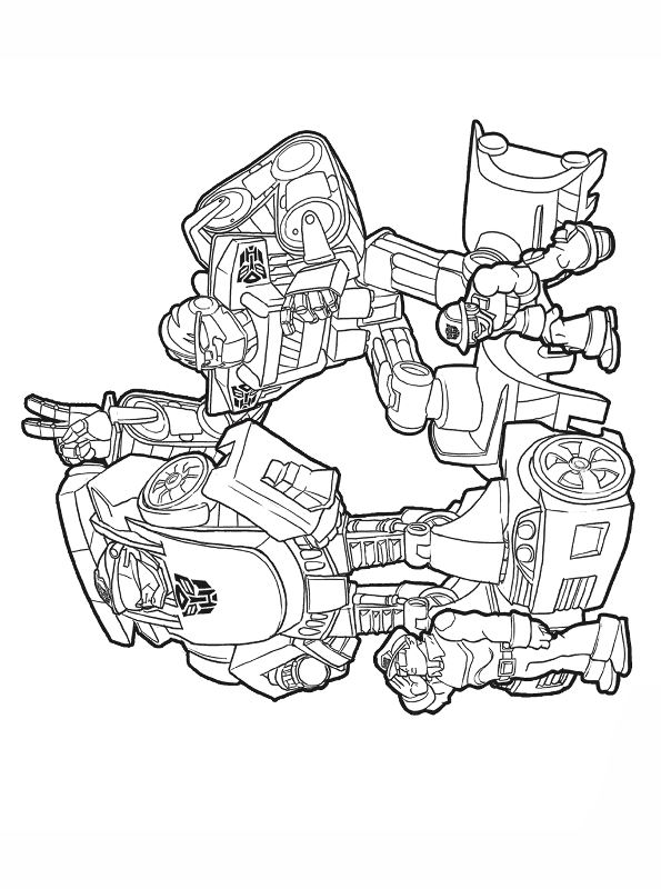 Kids N Fun Com Coloring Page Transformers Rescue Bots Transformers Rescue Bots 3