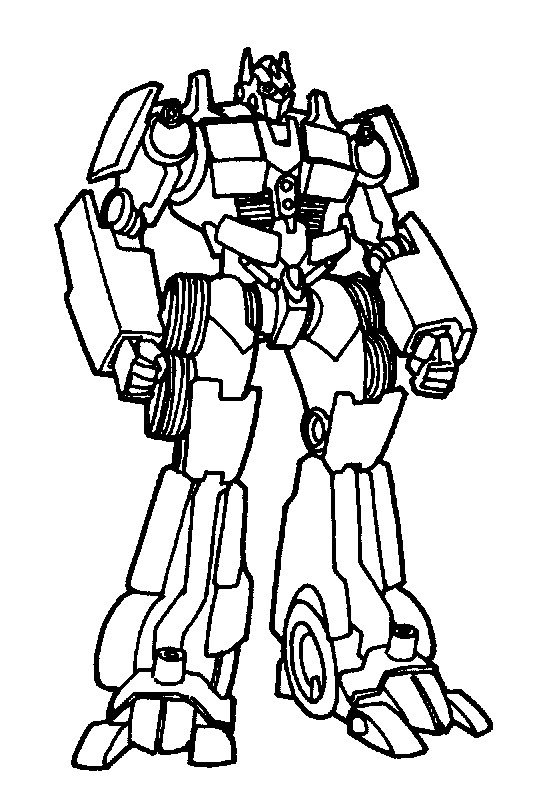 transformer coloring pages free - photo#25