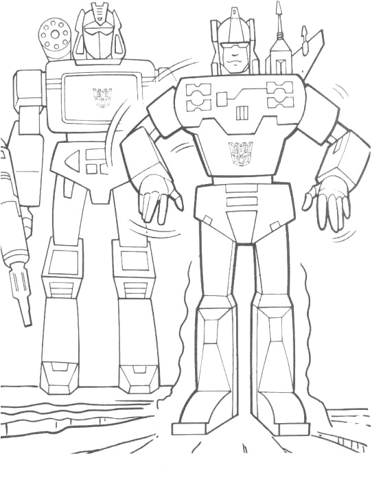 Kidsnfuncom  33 coloring pages of Transformers