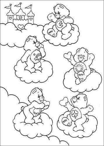 The Care Bears coloring pages on Coloring-Book.info | 500x357