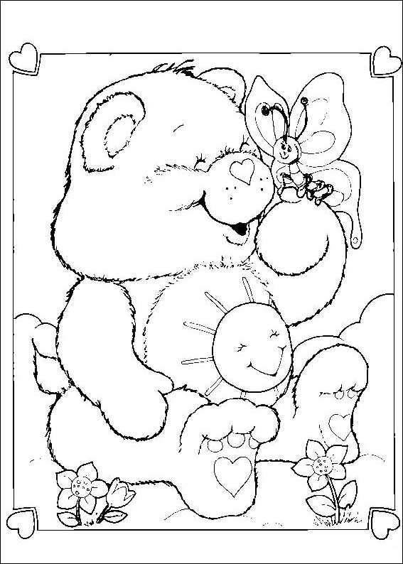 Kids N Fun Com 63 Coloring Pages Of Care Bears